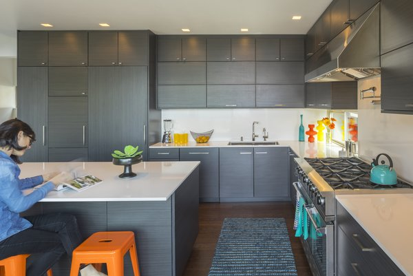 Some laminate cabinets offer the sleek appearance of wood at a fraction of the cost.