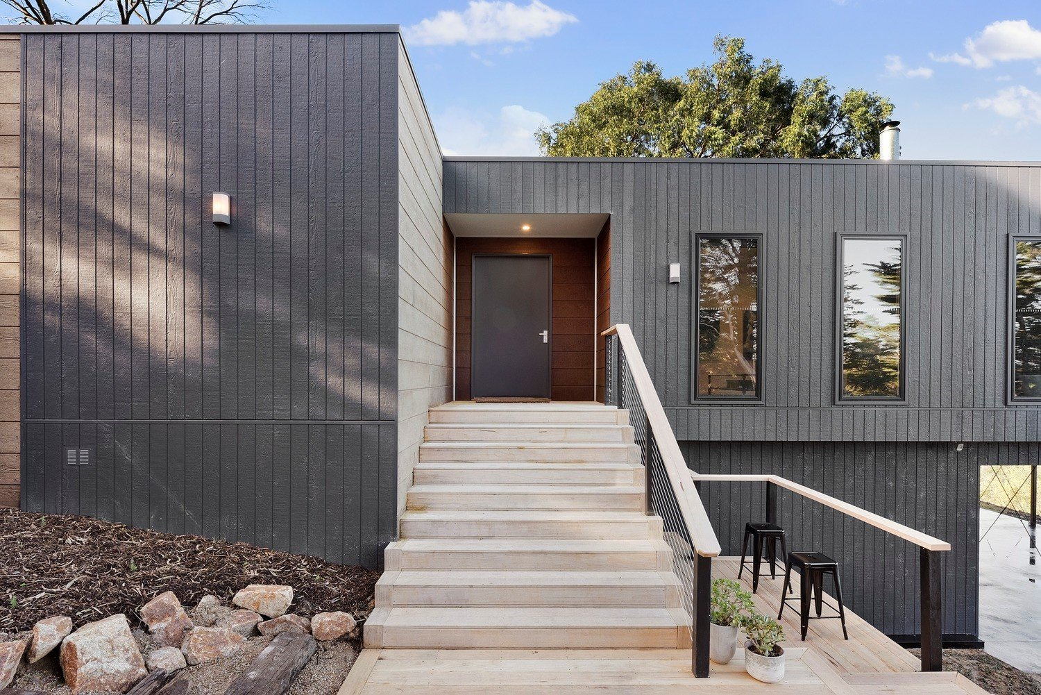Doors, Exterior, Swing Door Type, and Masonite Do you have a question about our Frankston project? We'd love to hear from you.  Comment below or visit us on anchorhomes.com.au  Best Photos from The Frankston Home