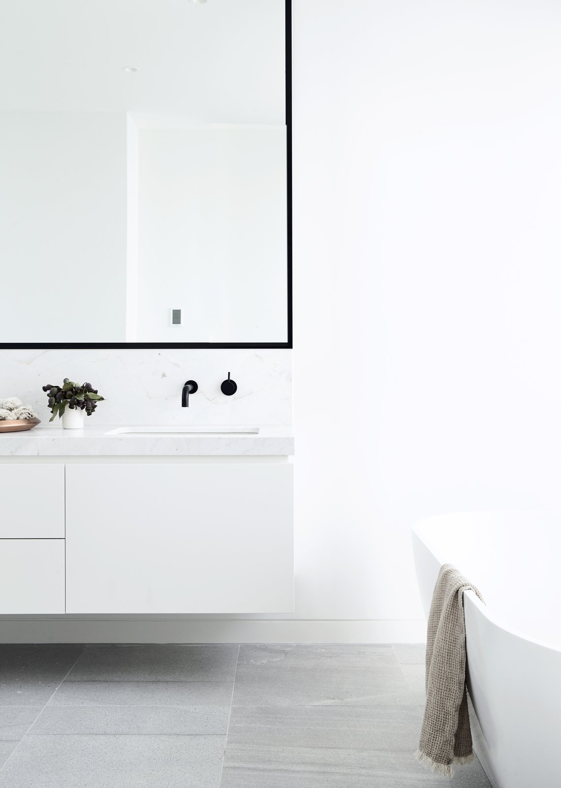Bath, Marble, Ceiling, Porcelain Tile, Drop In, and Freestanding Canny 'The New' Master Ensuite  Best Bath Porcelain Tile Drop In Freestanding Photos from The New