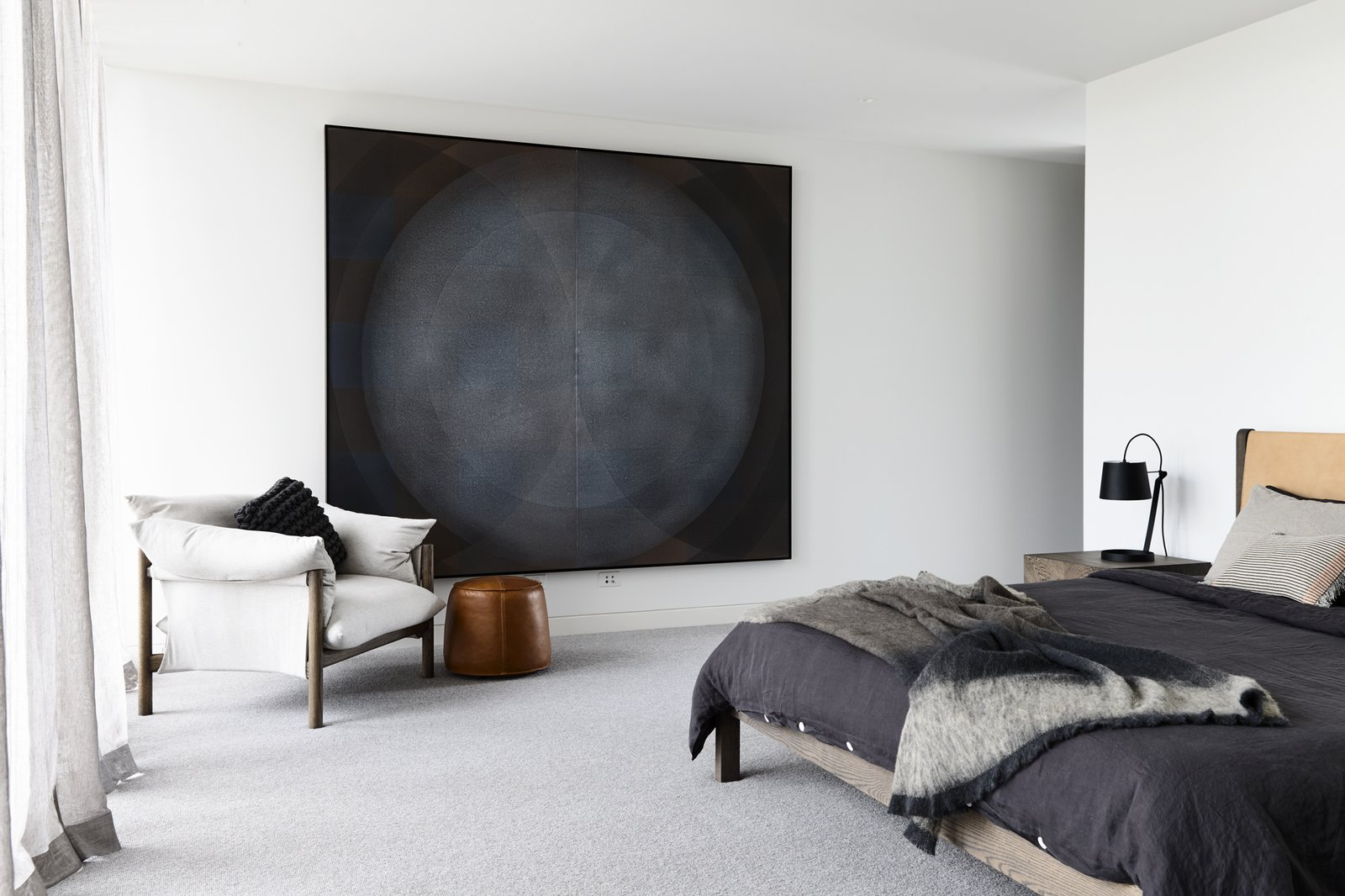 Bedroom, Bed, Chair, Ceiling Lighting, and Carpet Floor Canny 'The New' Master Bedroom  The New