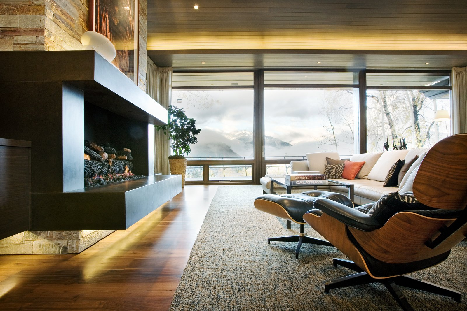 Living Room Livingroom with a stunning view   An Architects Dream Home --Wrights Road Aspen
