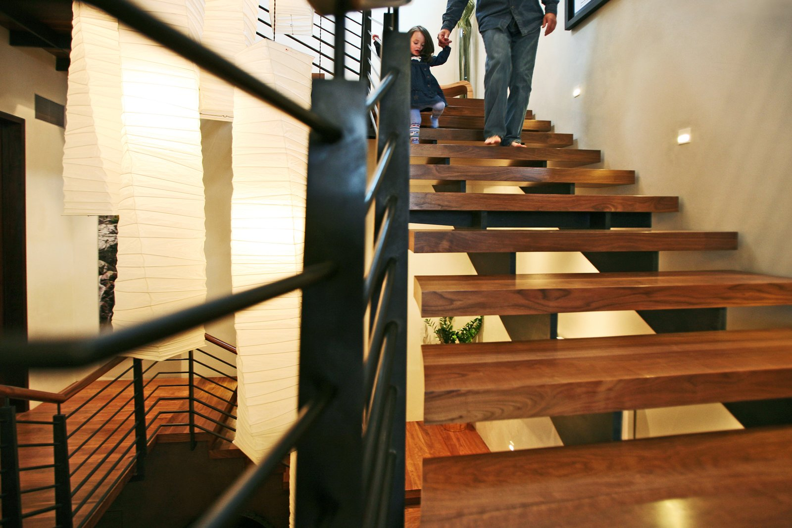 Staircase Charles with Daughter on stairs   An Architects Dream Home --Wrights Road Aspen