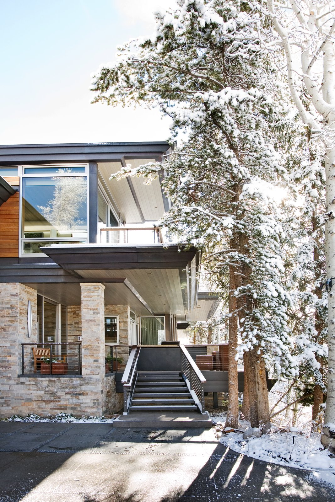 Outdoor A Snowy retreat   An Architects Dream Home --Wrights Road Aspen