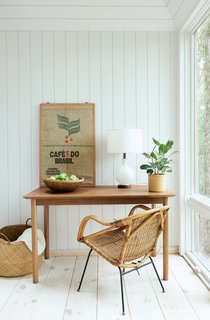 Natural light abounds in this office nook.