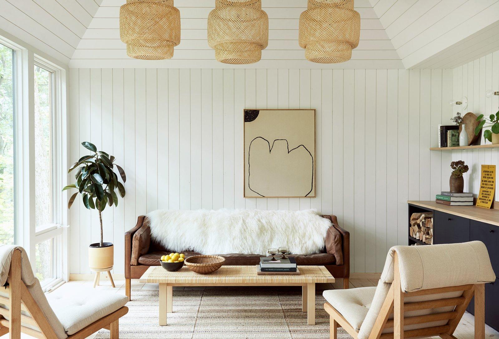 The Hut living room