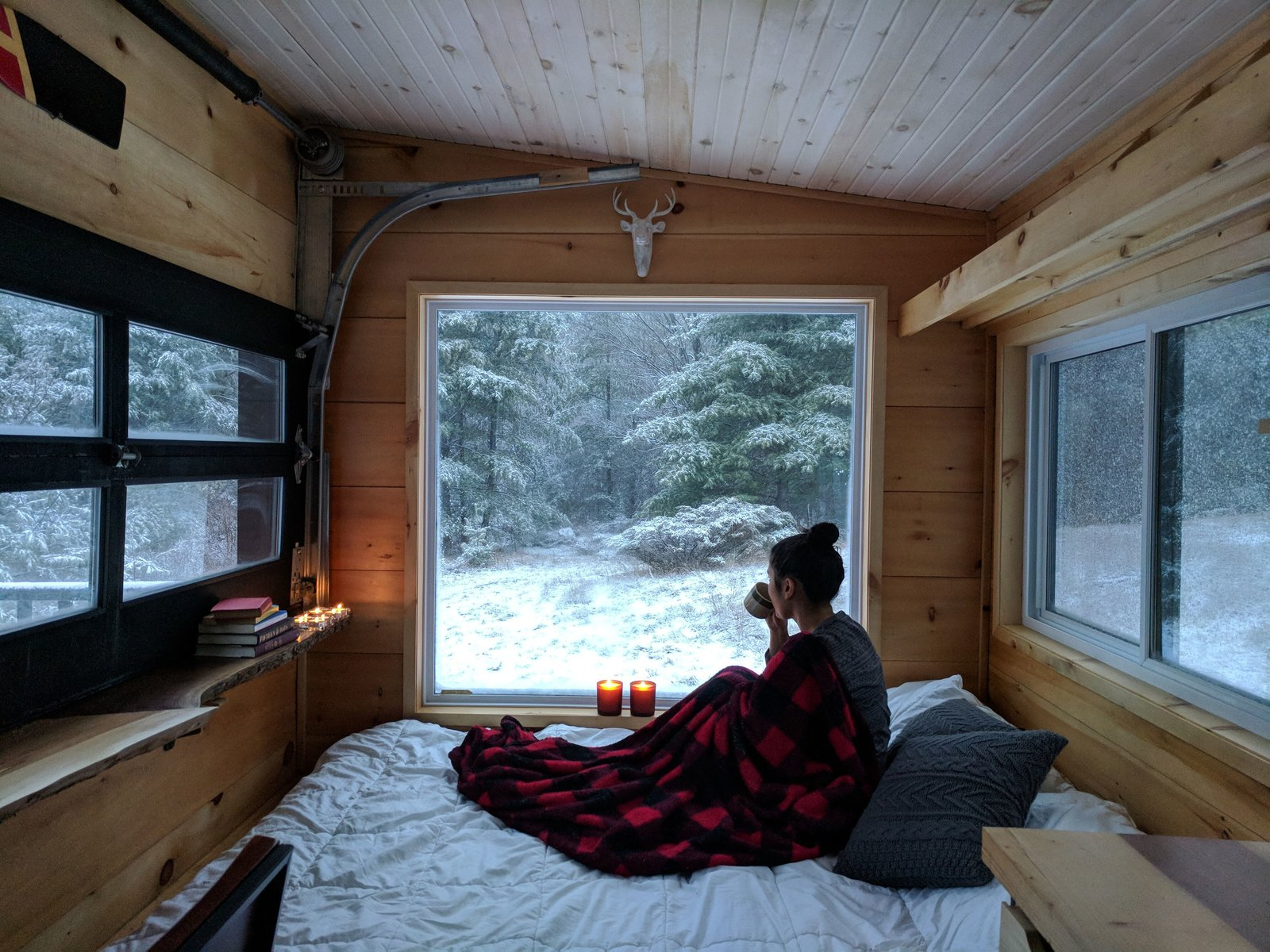 Even on the coldest winter day, these cozy cabins, which are heated by a propane furnace, are warm and inviting.