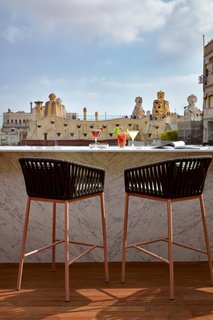 Sir Victor's rooftop bar looks out over Antoni Gaudí's Casa Milà.