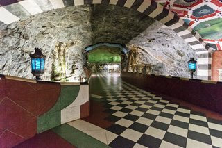 "Stockholm's metro has earned the moniker ""the world's longest art museum."""