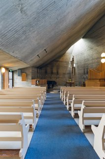 """Vällingby is home to one of Le Corbusier's favorite churches. The architect said: """"If you are going to see beautiful churches in Europe, there are three you should not miss: Basilica of St. Peter in Rome, Notre Dame in Paris, and Västerort Church in Vällingby."""""""
