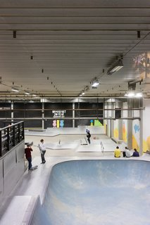 Skateboarding is huge in Malmö—and Bryggeriets Gymnasium is the world's first high school built around a skate park. The school uses skateboarding as a teaching tool to supplement standard coursework and classes in photography, film, and the fine arts.