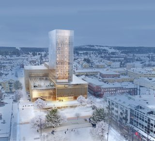 White Arkitekter is currently working on the Skellefteå Cultural Centre, which will be one of the world's tallest timber high rises when it's completed in 2021.