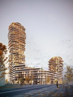 Stockholm–based Belatchew Architekter specializes in urban planning, housing, offices, and public buildings. Pictured above is Discus—a dynamic new skyscraper planned for Nacka City that will hold 450-500 apartments.