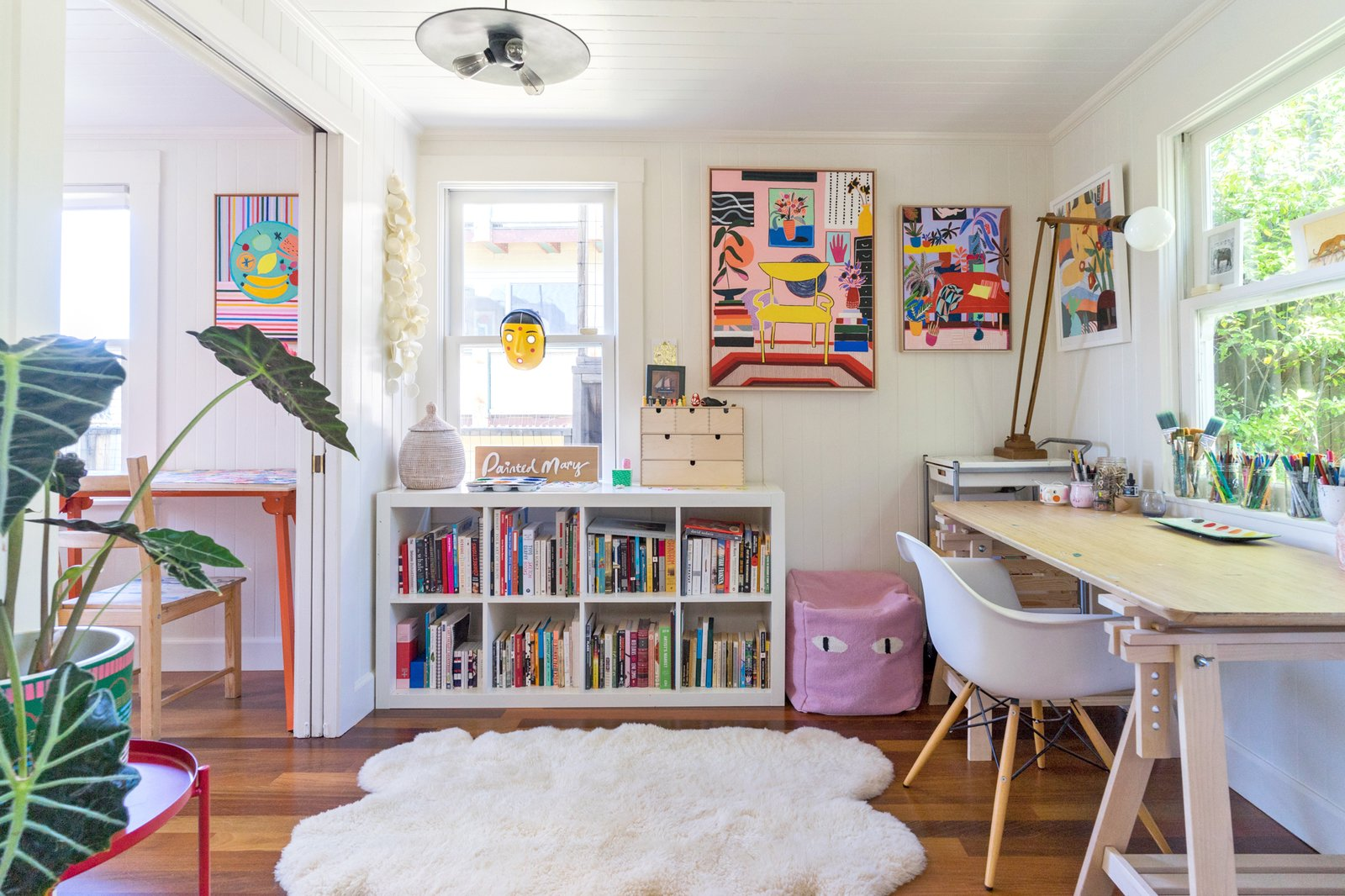Painted Mary Finlayson home office