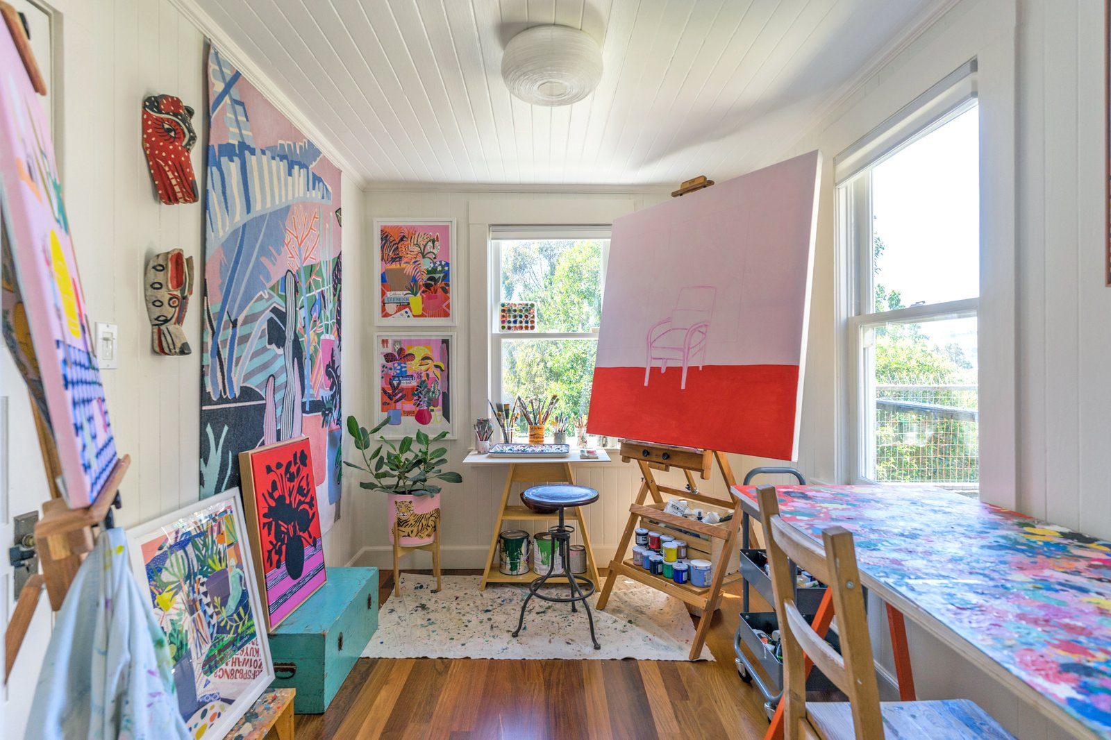 Painted Mary Finlayson home studio