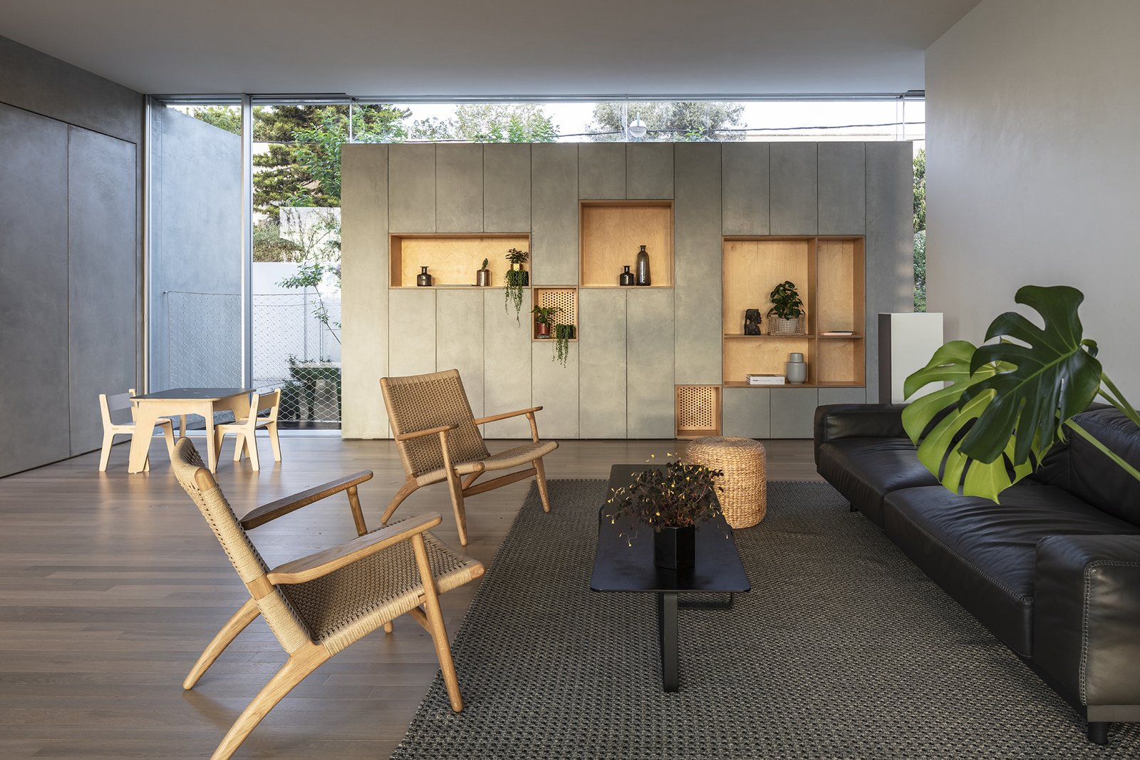 Round Edge House by Anderman Architects living room