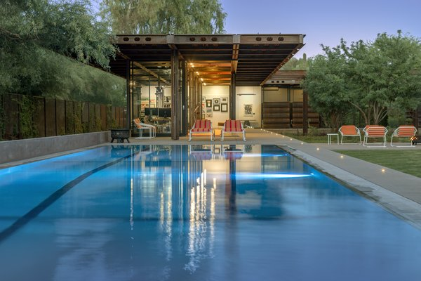 An Architect Builds a Monumental Cor-Ten Steel Prefab for His Family in Arizona