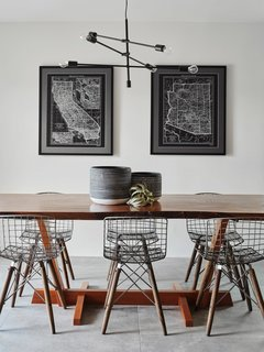 Dining Space featuring a William Franevsky table and Maps by Copperstate Collection.