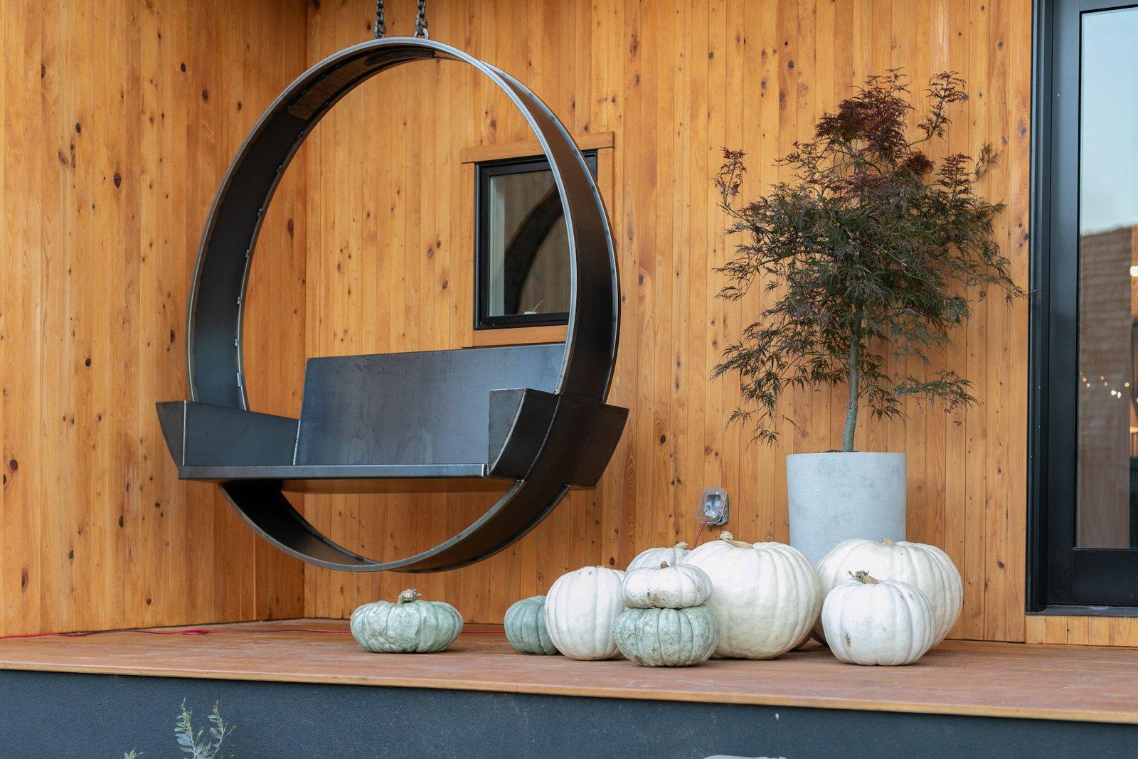 Naturally House black steel swing
