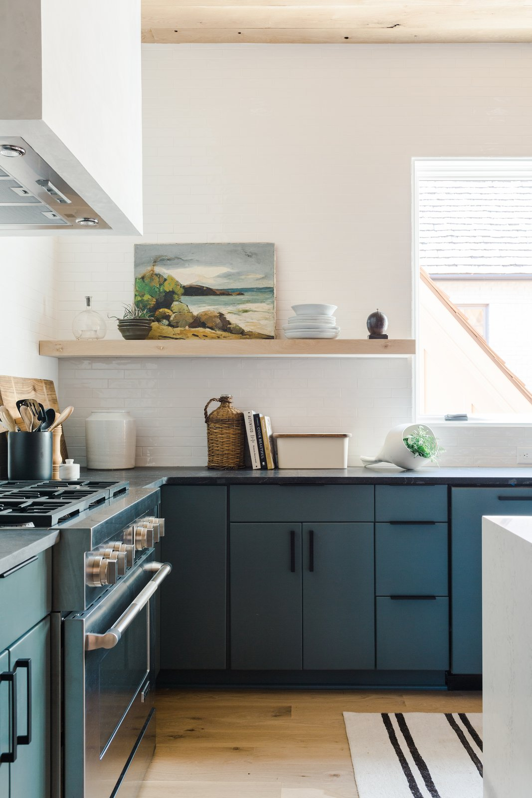 Naturally House kitchen open shelving
