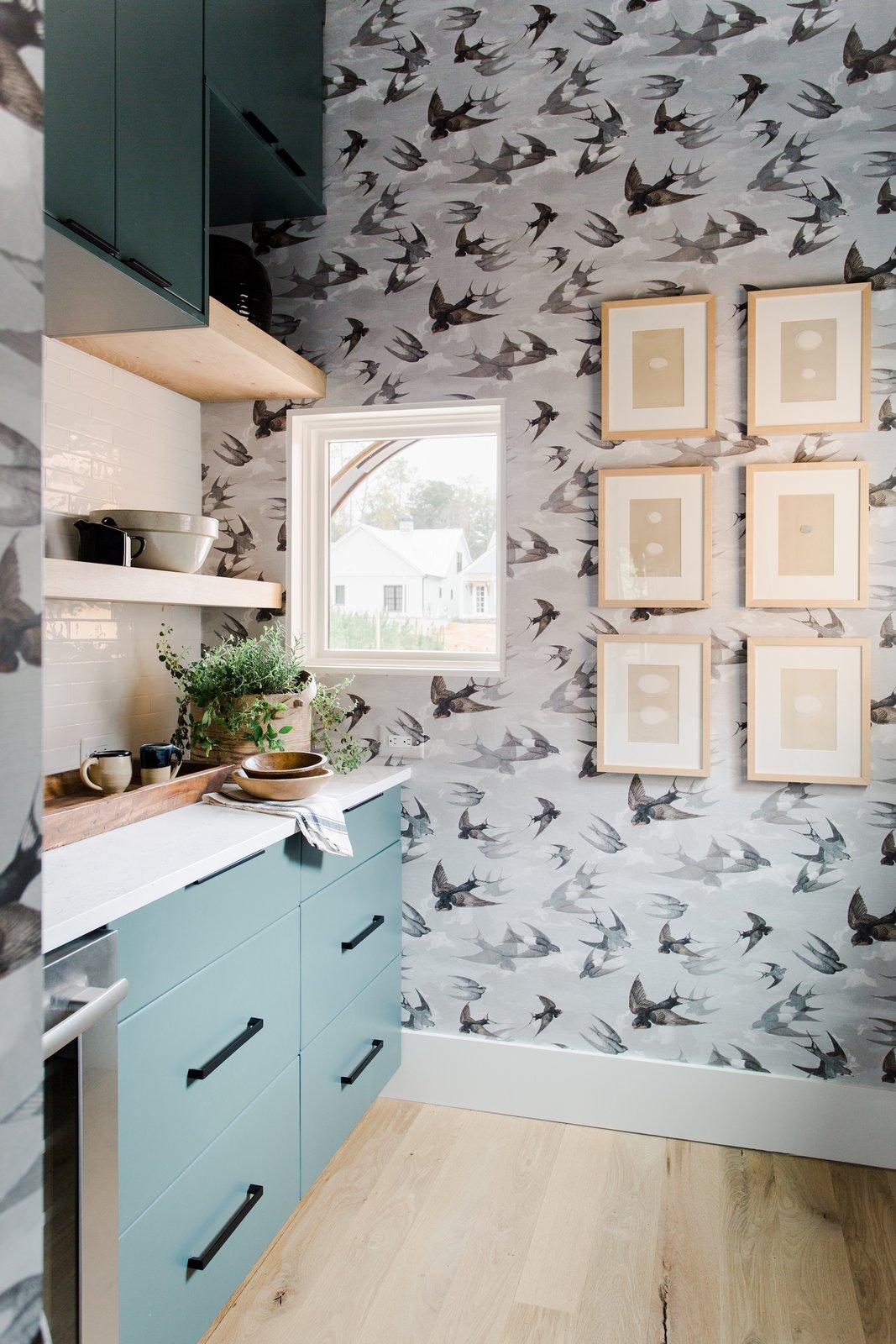 Naturally House kitchen bird wallpaper