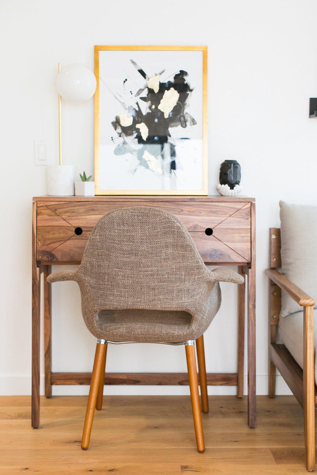 Node LA Echo Park co-living apartment desk and artwork