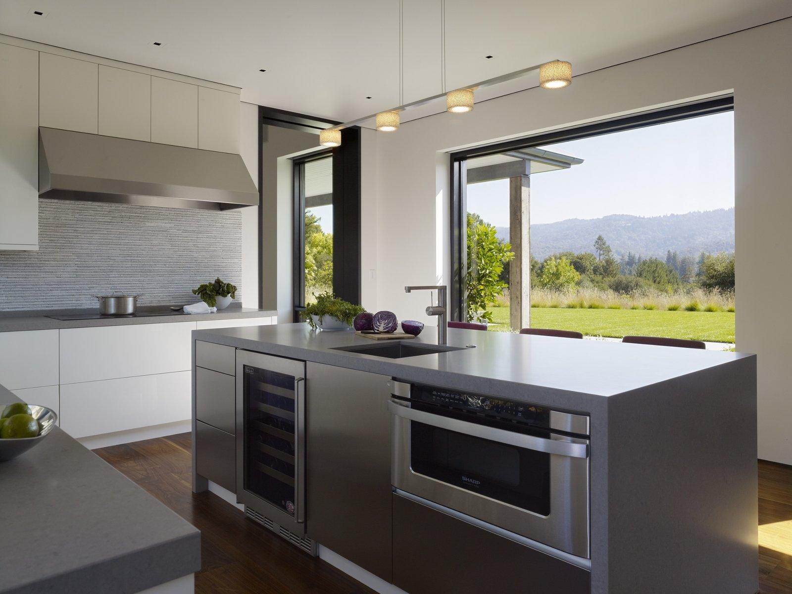Portola Valley Barn home kitchen