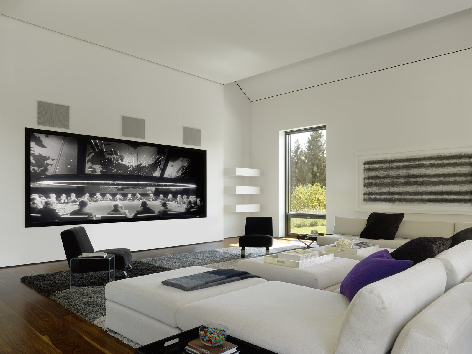 Portola Valley Barn home living room