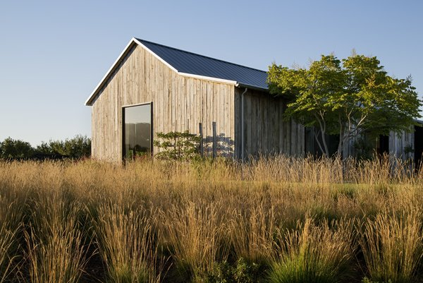 The Portola Valley Barn blends into its rustic setting.