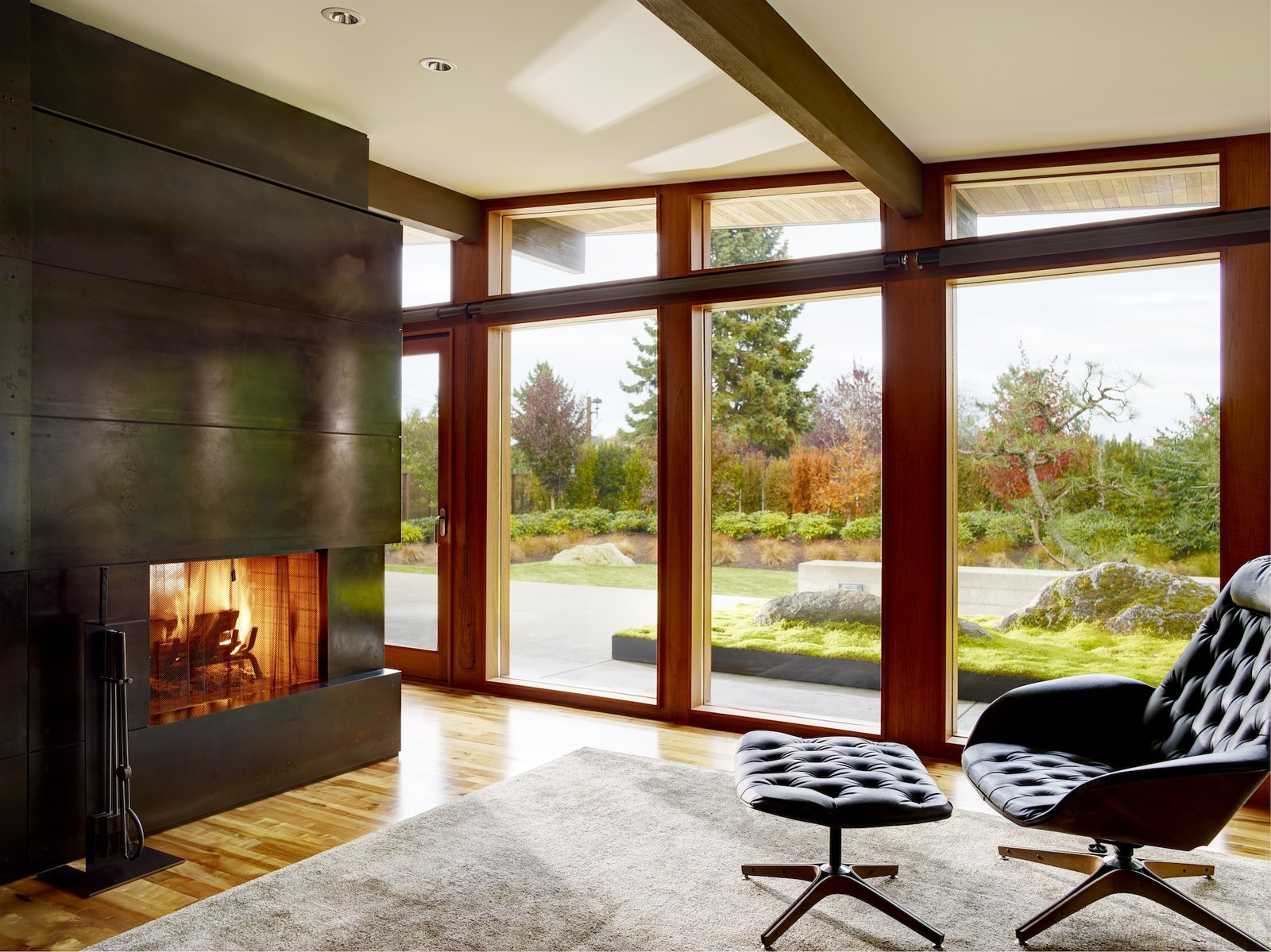 Art Collector's Retreat fireplace