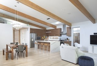 Open plan gives the space a loft-like feel.
