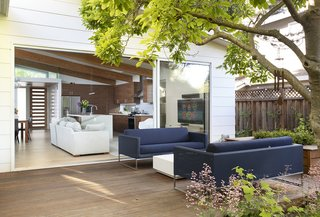 Large sliders blur the line between indoors and out and expand the living space.