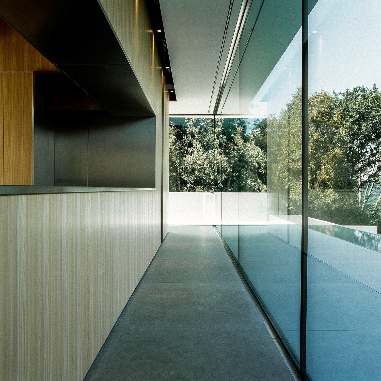 Kitchen, Refrigerator, Drop In, Metal, Limestone, Ceiling, Wood, and Wood kitchen  Kitchen Metal Wood Photos from Villa Philipp