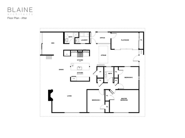 The updated floor plan