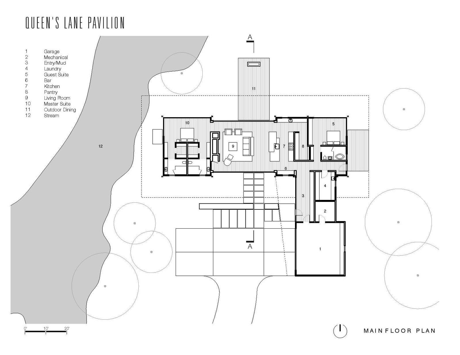 Queen's Lane Pavilion main floor plan