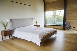 There is a direct connection to nature in the ground-level master suite.