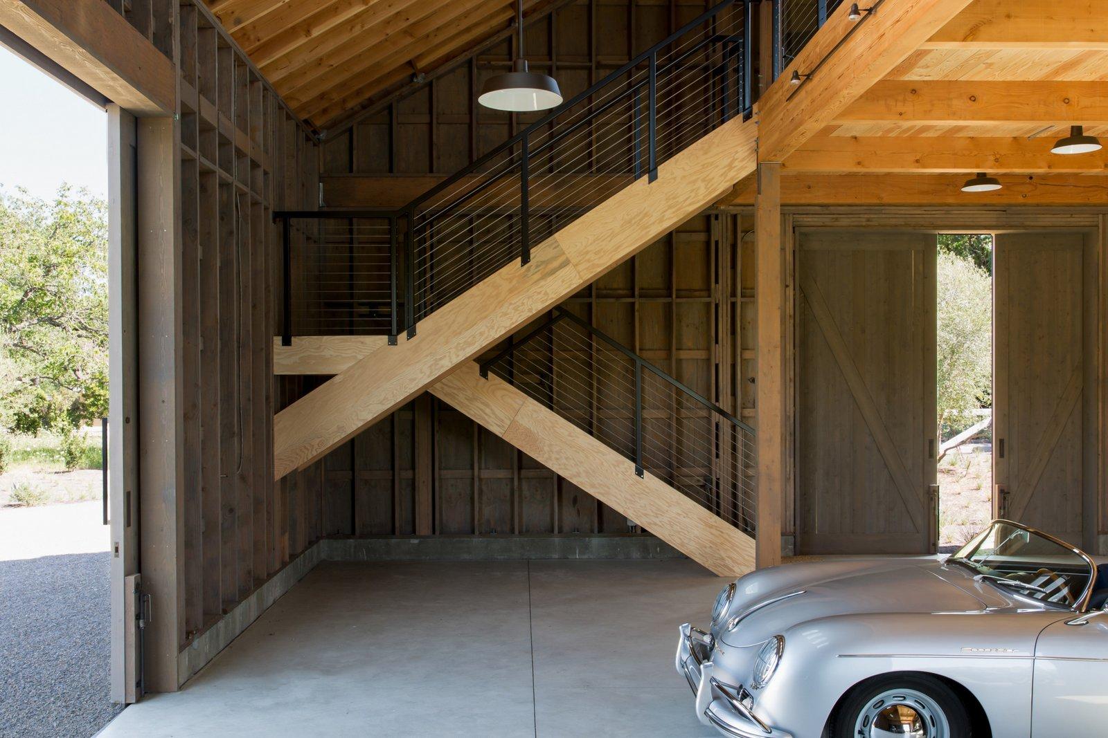 Calistoga Residence car barn