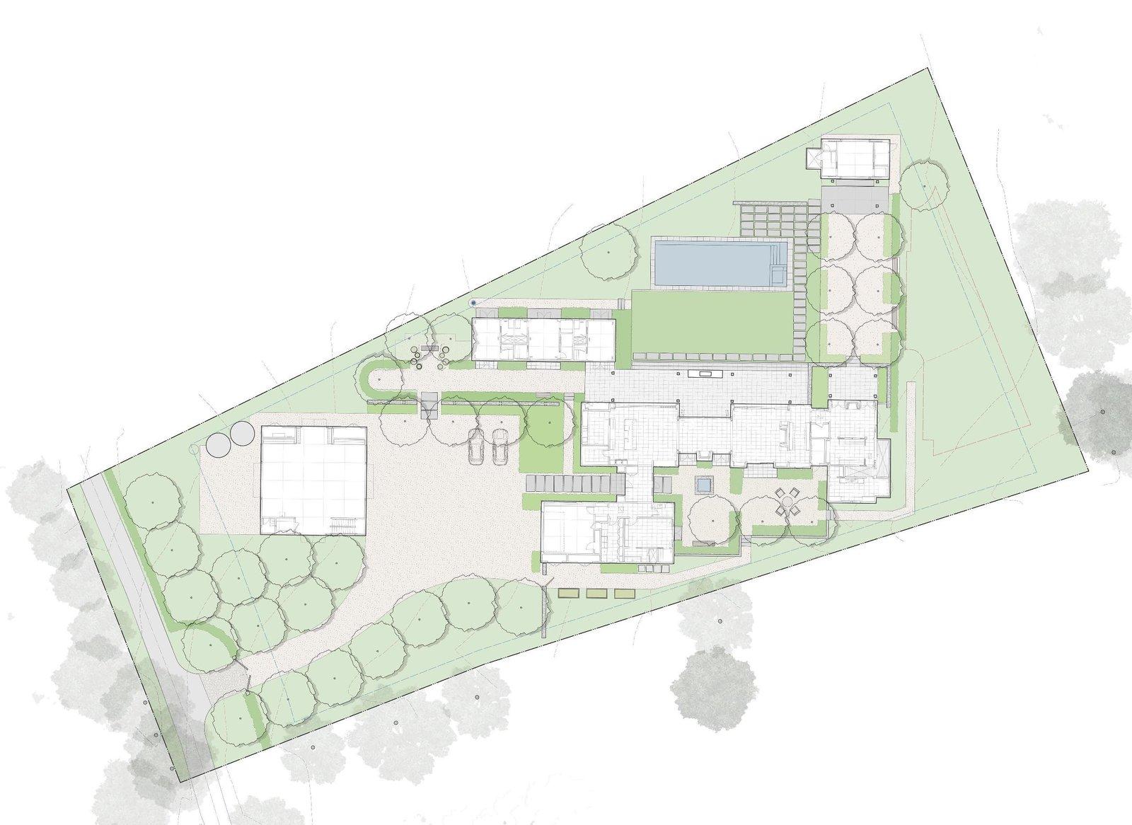 Calistoga Residence site plan