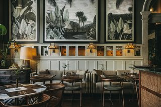 Bartolomeu, Torel 1884's bistro serving French-inspired cuisine made with Portuguese ingredients, conjures a safari vibe.