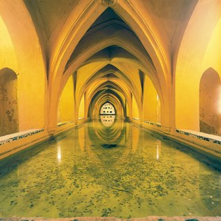 A former fort, Real Alcázar of Seville is a royal palace in Seville, Spain.