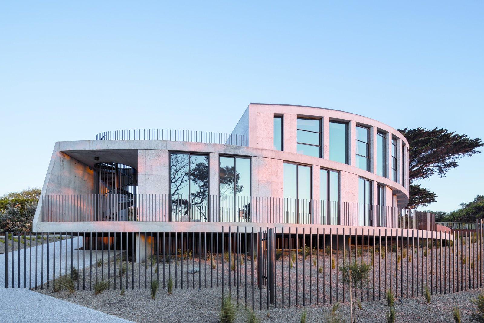 Tidal Arc House concrete exterior