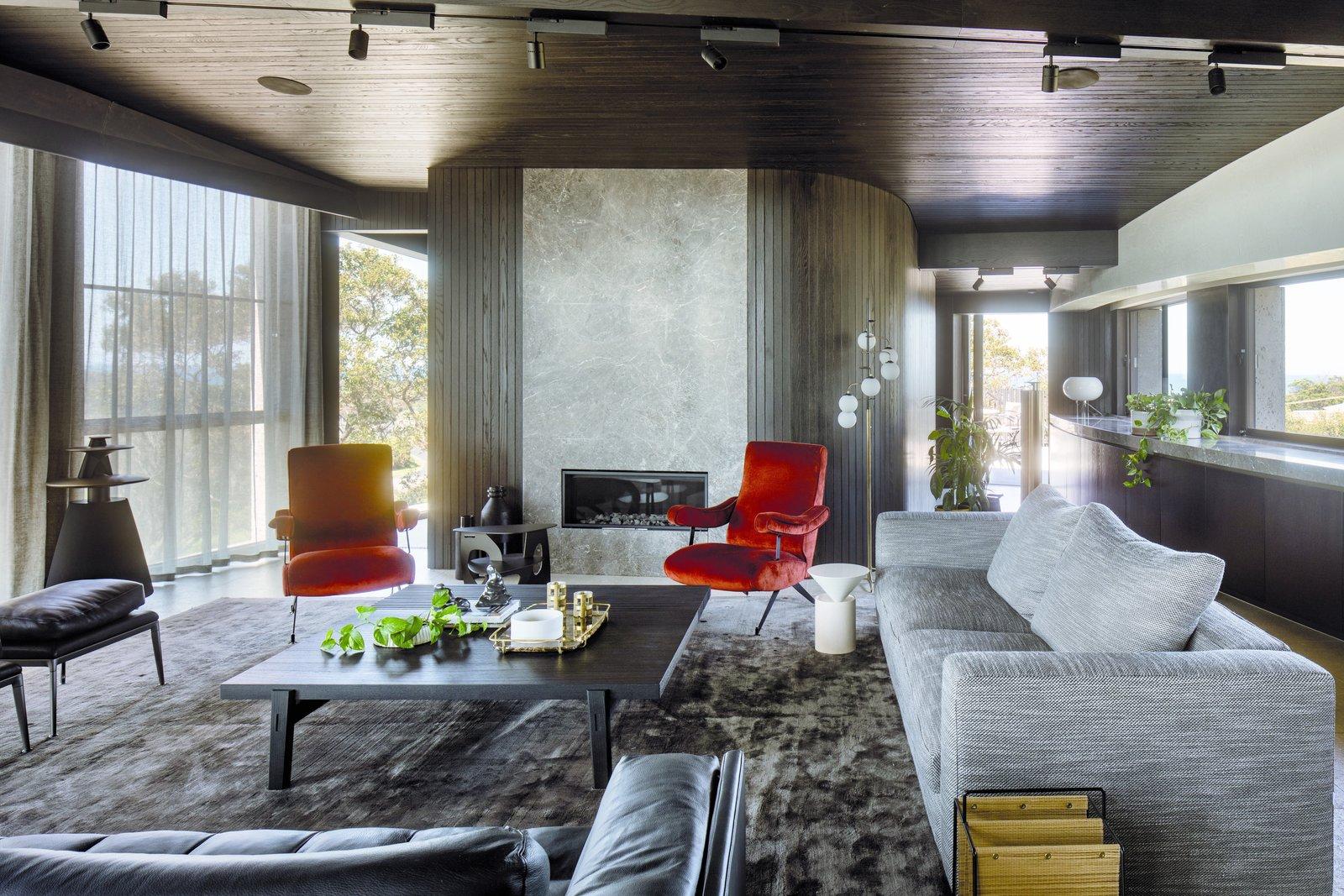 Tidal Arc House living room