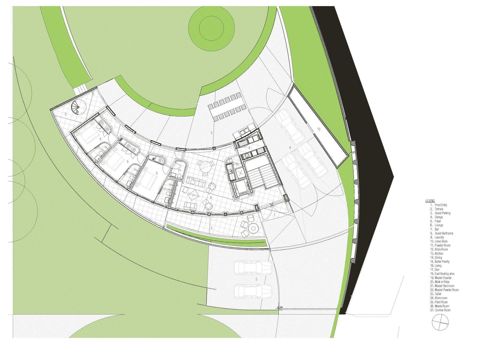 Tidal Arc House ground floor plan