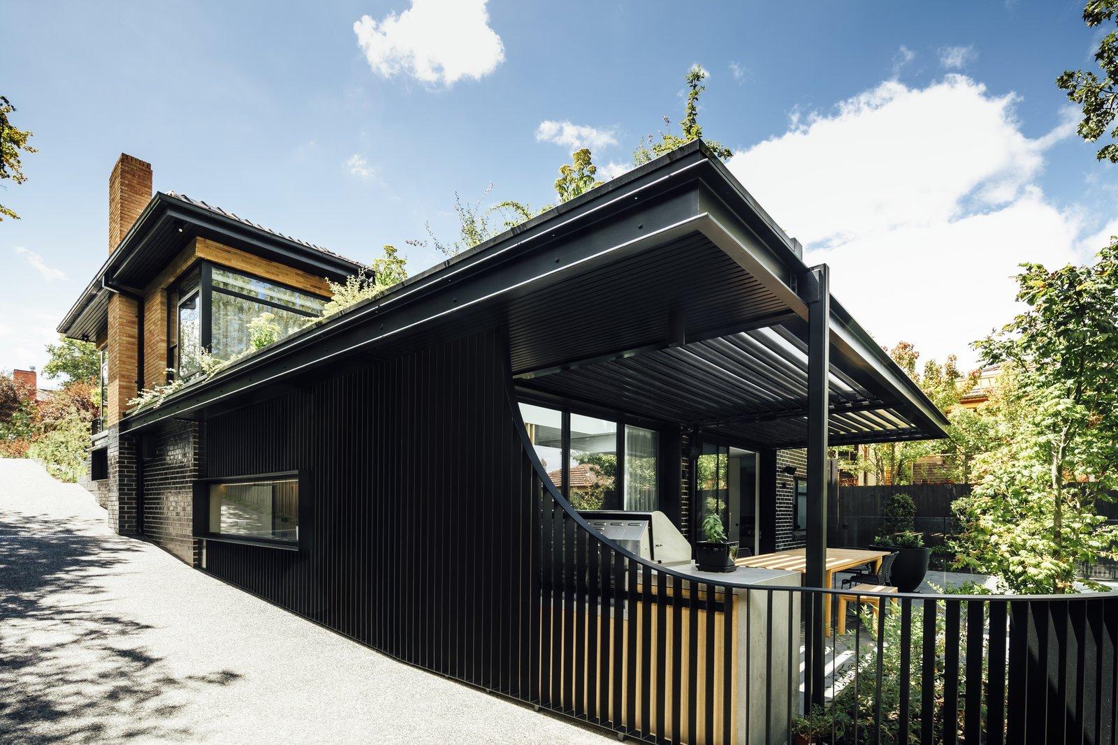 Triple Fronted Revival steel facade