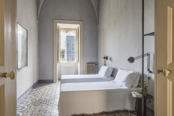 """The walls are all done up with local finishes, painted with lime and various pigments from the region,"" says Gabriele Salini, Palazzo Daniele's co-owner."