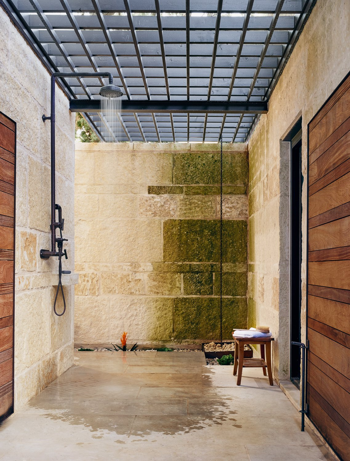 Olmos Park Residence outdoor shower