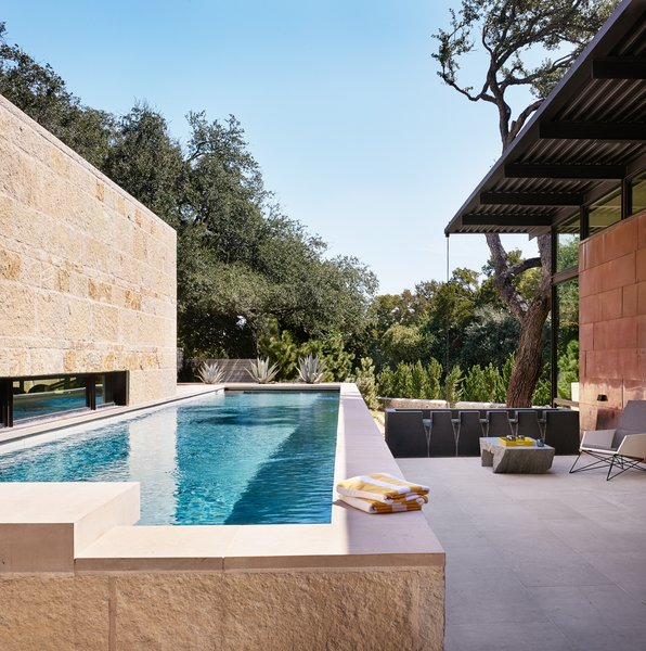 The lap pool, off the kitchen, is one of the home's most serene zones.