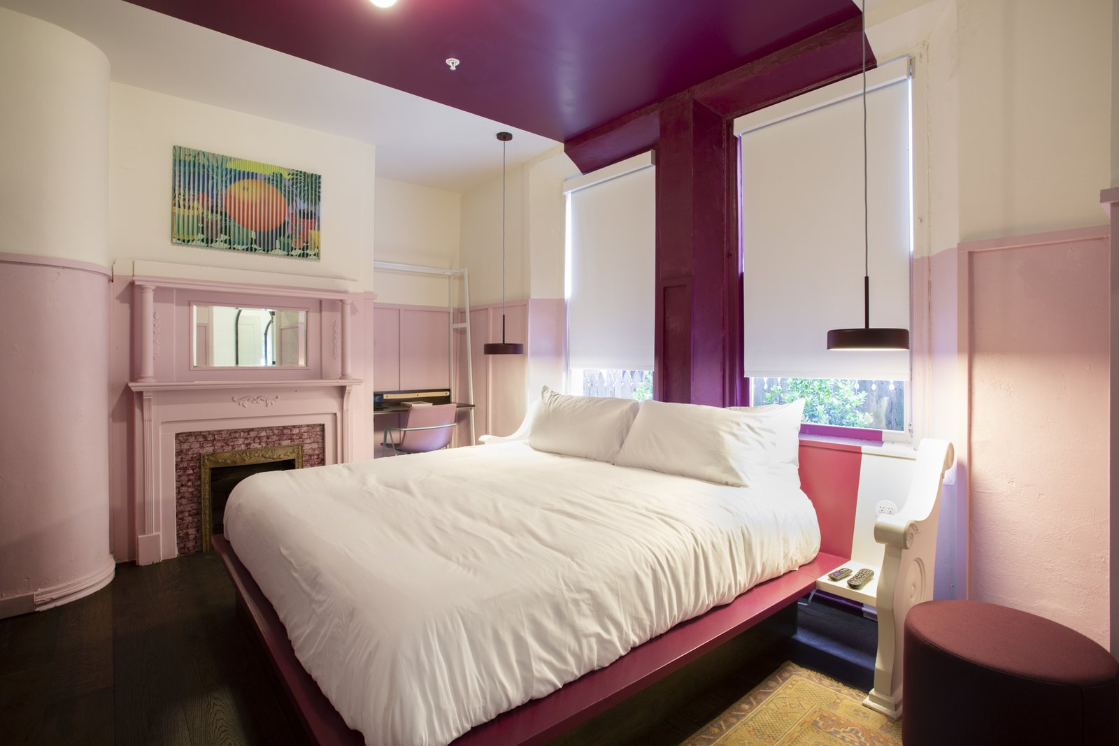 The Russell pink guest room