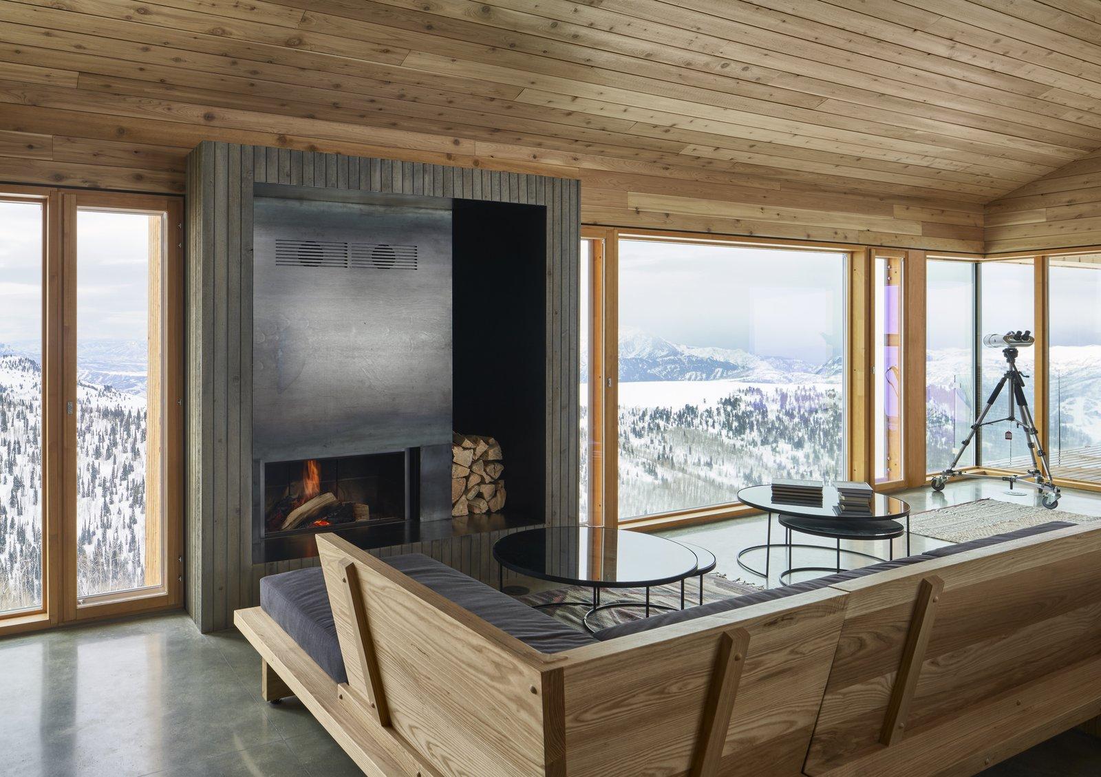 Horizon Neighborhood cabin fireplace