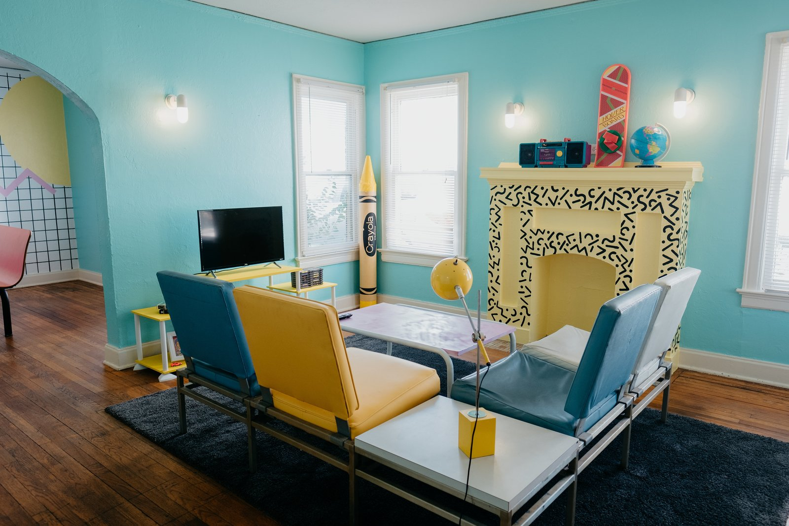The McFly Airbnb Jeremy Kelsey Turner living room