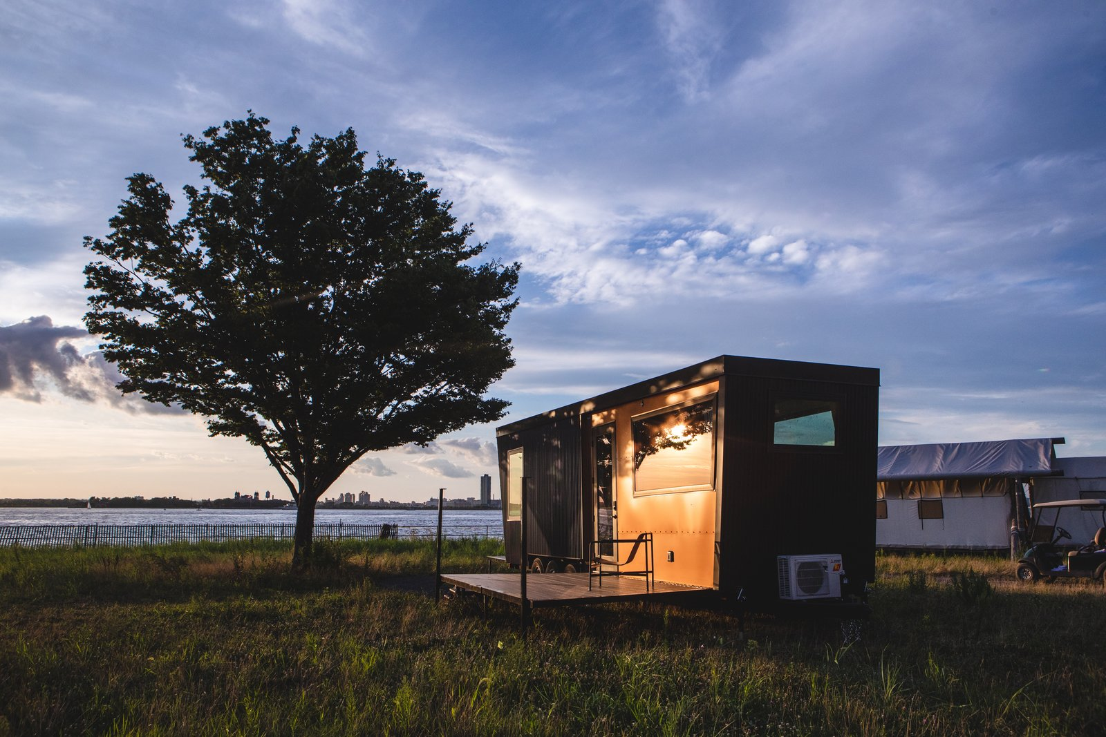 """Outlook Shelter epitomizes rugged luxury. """"All our features and innovations are integrated in one modular unit, so we can move and operate it quickly,"""" says Peter Mack, founder and CEO of Collective Retreats."""